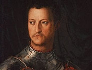 Fourteenth-century Florentine banker and politician Cosimo de' Medici. The Medicis brought together different walks of life – a practice that underpinned the creative explosion that was the Renaissance. Portrait by Agnolo Bronzino